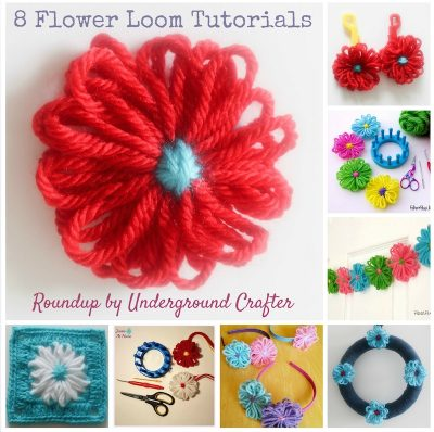 Easy Flower Loom Projects: 4 Tutorials by Underground Crafter plus 4 more from around the web
