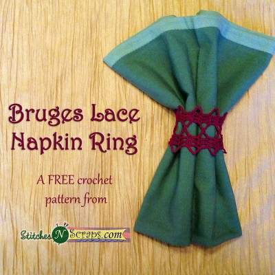 Bruges Lace Napkin Ring by StitchesNScraps