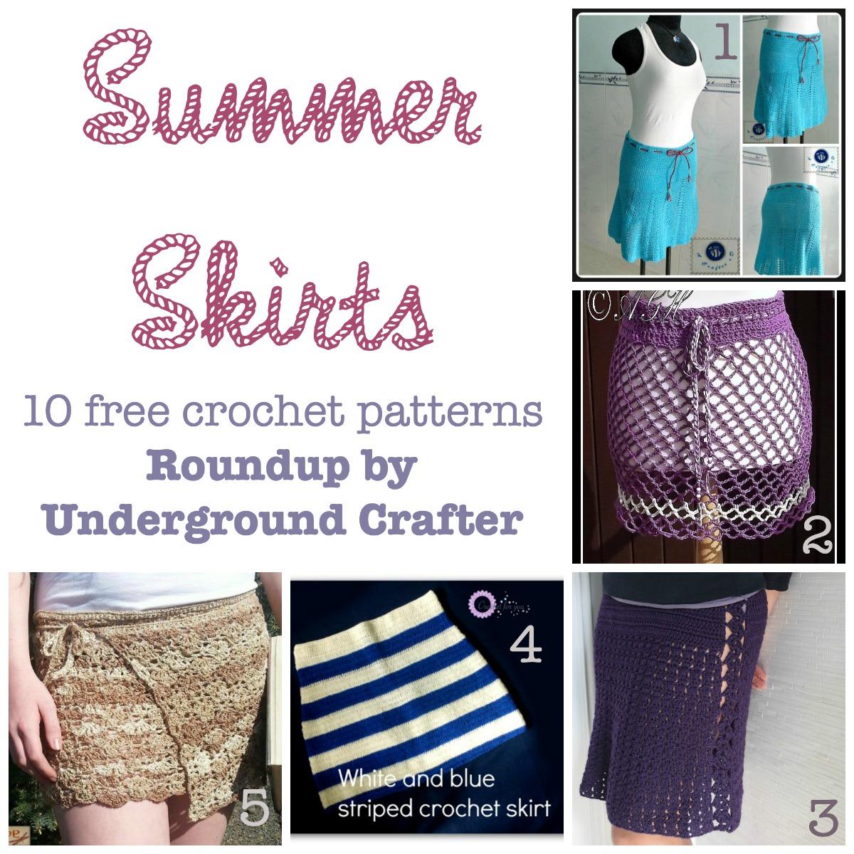 Summer Skirts Roundup 10 Free Crochet Patterns Underground Crafter