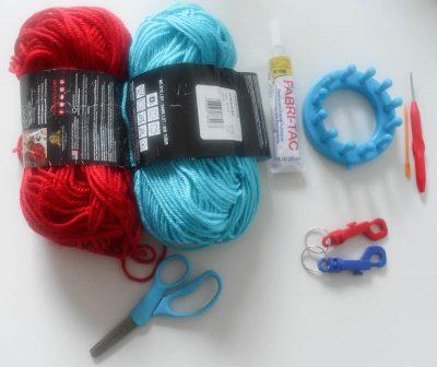 Yarn Flower Keychain Tutorial by Underground Crafter #DIY #crafts #yarn