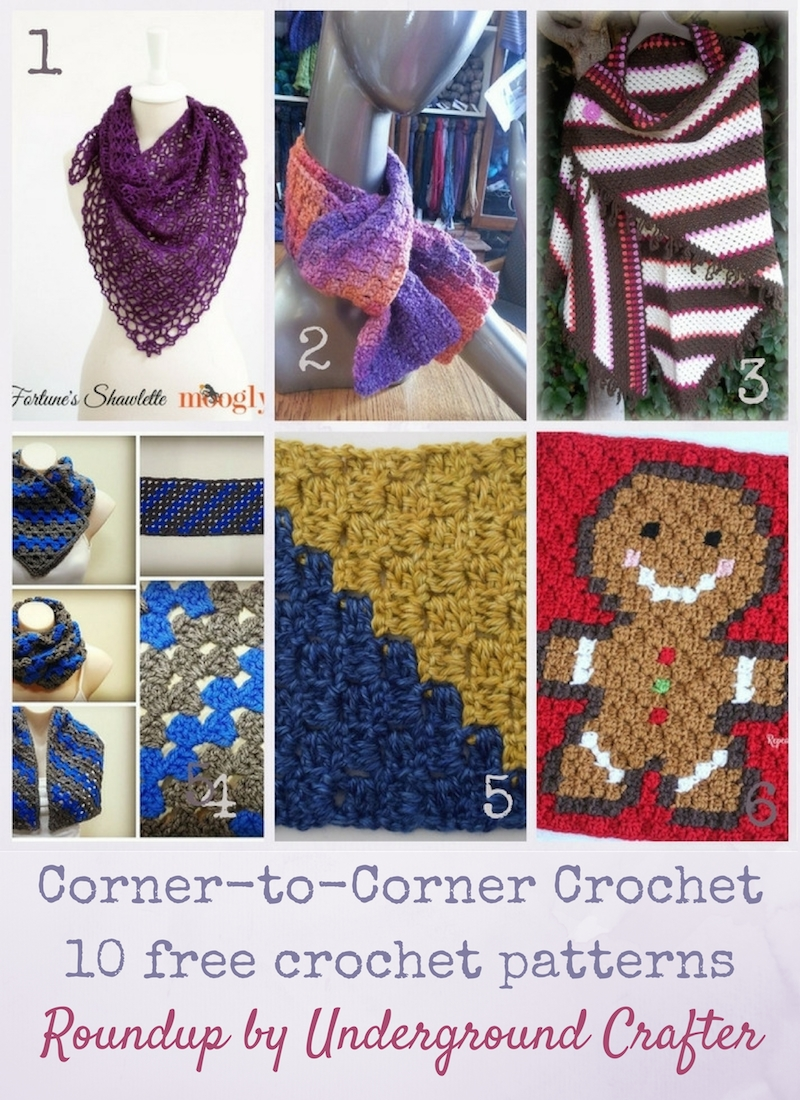 Roundup: 10 Free Corner-to-Corner (C2C) Crochet Patterns