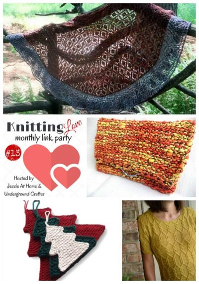 Knitting Love Link Party 13 (September 2016) with Jessie At Home and Underground Crafter | Share your latest knitting projects, tips, tutorials, WIPs, and patterns through September 29, 2016 and enter our giveaway! Check out last month's most clicked on posts from Knitting | Work in Progress, NitaB&NishaN Inc, Kathryn Folkerth, and Minnesota Nancy.