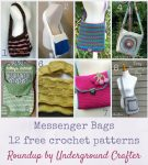 Roundup: 12 free crochet patterns for messenger bags, curated by Underground Crafter