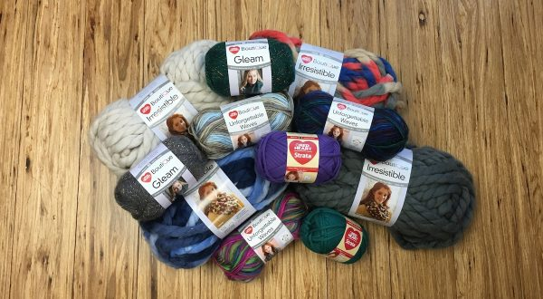 Red Heart Boutique Irresistible, Boutique Unforgettable Waves, Strata, and Boutique Gleam yarn | Roundup of 6 free crochet patterns featuring Red Heart Yarns