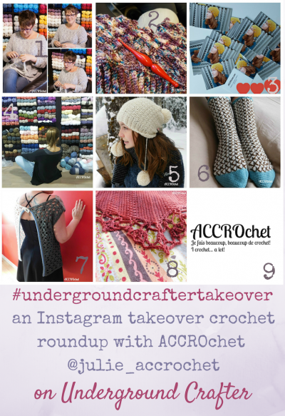 An Instagram Takeover crochet roundup with ACCROchet (@julie_accrochet) on Underground Crafter #undergroundcraftertakeover