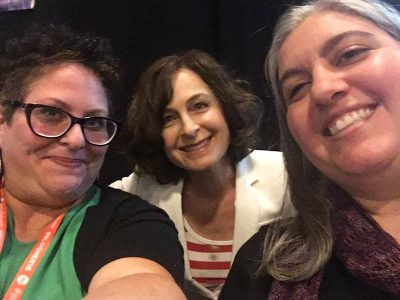 #BlogHer16 recap on Underground Crafter - A panel selfie with (left to right) Jessie Kupferman, Laurel Moglen, and Marie Segares (photo credit: Jess Kupferman).