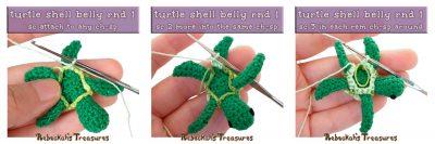 Free crochet pattern: Mini Amigurumi Turtle Friend by Rebeckah's Treasures for Underground Crafter