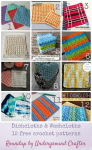 Roundup: 12 free crochet patterns for dishcloths and washcloths, curated by Underground Crafter | Dishcloths and washcloths are great ways to try new stitches. They also make great gifts and useful projects to keep at home.