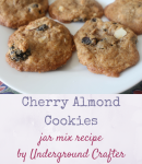 Cherry Almond Cookies recipe with jar mix gift version (including printable recipe cards) by Underground Crafter | (Inter)National Cookie Month Crafty Blog Hop #craftycookies2016