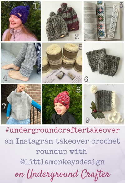 Instagram takeover crochet pattern roundup featuring Angela Plunket from Little Monkeys Design   Get links to 10 crochet patterns by Angela Plunkett from Little Monkeys Design.
