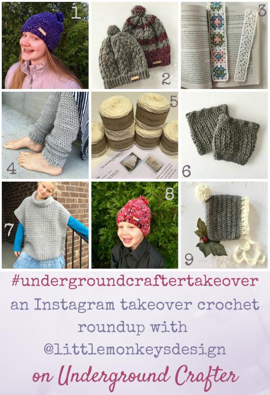Instagram takeover crochet pattern roundup featuring Angela Plunket from Little Monkeys Design | Get links to 11 crochet patterns by Angela Plunkett from Little Monkeys Design.
