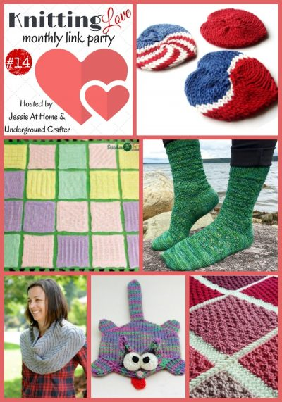 Knitting Love Link Party #14 (October, 2016) with Jessie At Home and Underground Crafter   Share your latest knitting projects, WIPs, tips, tutorials, and patterns through 11:55 p.m. on October 28, 2016 and be entered into this month's giveaway!