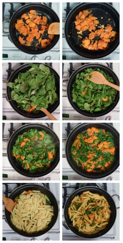 Butternut Squash and Kale Pasta recipe by Underground Crafter