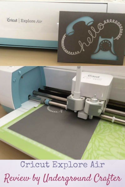 Cricut Explore Air unboxing and review on Underground Crafter