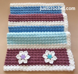 Everyday Blanket, free crochet pattern by JustCrochet | 12 free crochet patterns for baby blankets, roundup curated by Crochet Pattern Bonanza for Underground Crafter. Crocheted baby blankets are perfect for keeping your little ones super cozy in the cold winter weather. They are not only great for the crib, but they also make for excellent covers in the stroller, or in the car. And to make them super cozy, you can always line them with a cotton or fleece material.