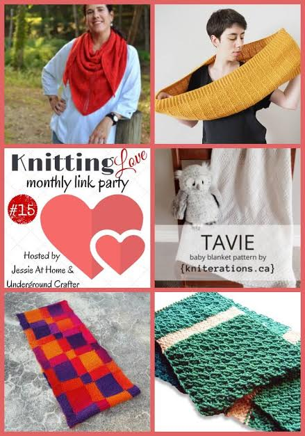 Knitting Love Link Party 15 | Share your latest knitting projects, patterns, WIPs, tips, and tutorials with Underground Crafter and Jessie At Home through November 24, 2016 and enter our monthly giveaway!