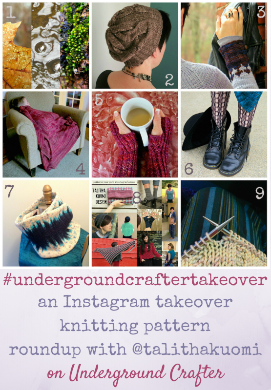 An Instagram takeover knitting pattern roundup featuring Talitha Kuomi on Underground Crafter