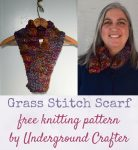 Free knitting pattern: Grass Stitch Scarf in Malabrigo Caracol yarn | A simple slip stitch pattern adds a gentle texture to this unisex scarf. Tie it with a knot or use a shawl pin to keep it closed.