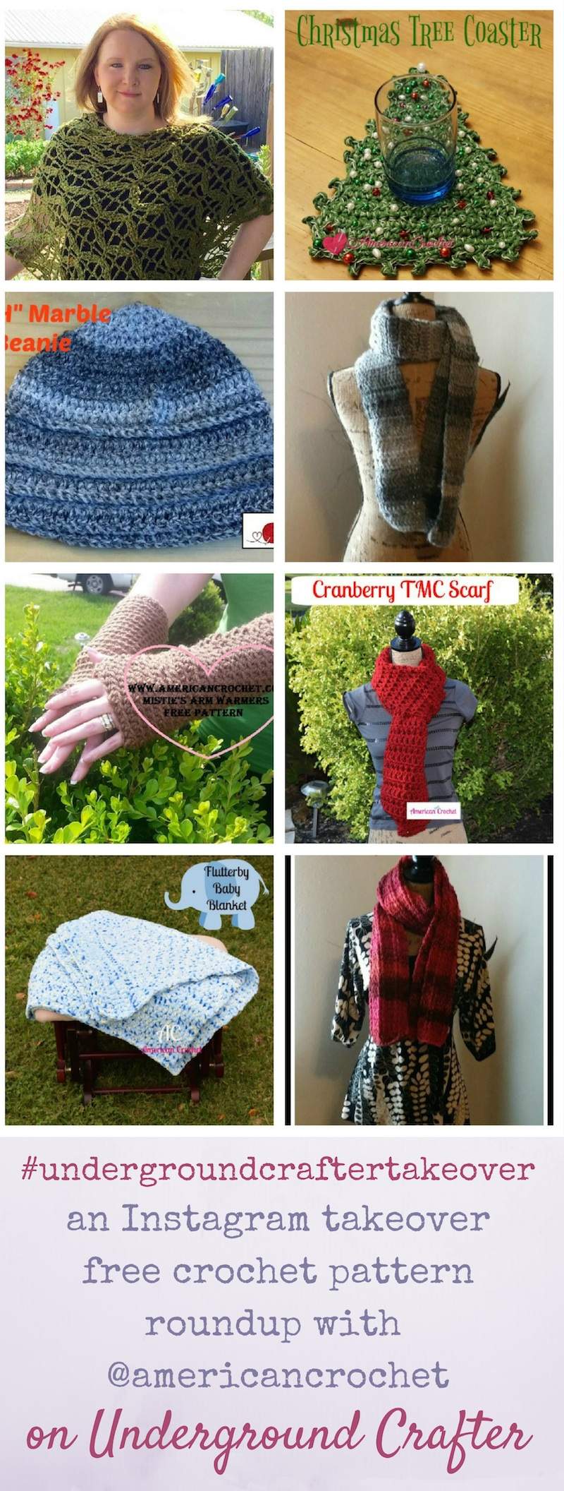 An Instagram takeover free crochet pattern roundup featuring American Crochet on Underground Crafter