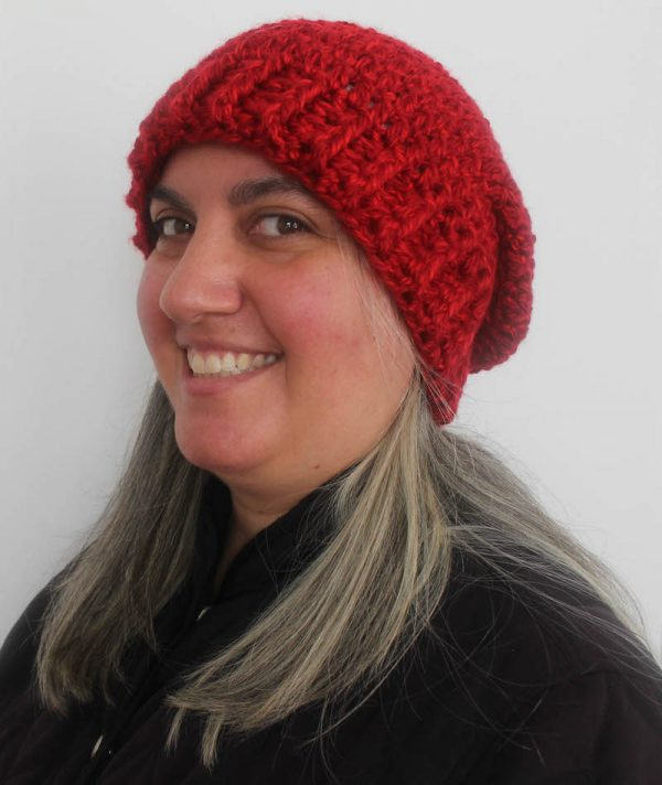 Plain Ole Slouchy Hat, free crochet pattern in Lion Brand Heartland Thick & Quick yarn by Underground Crafter | This simple, unisex slouchy hat works up quickly in super bulky yarn. Worked from brim to crown, the size can be easily adjusted to make the perfect custom gift. Pattern includes 9 sizes from newborn through adult large.