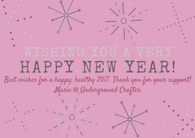 Happy New Year from Underground Crafter!