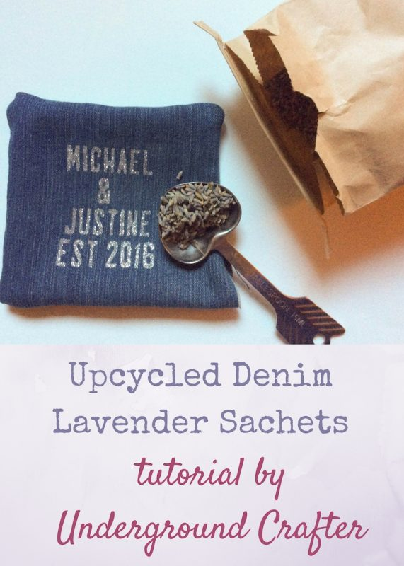 Upcycled Denim Lavender Sachets tutorial by Underground Crafter | These fragrant sachets will brighten up your drawers or make great gifts! Find a new life for your old jeans with this easy, low-sew tutorial.