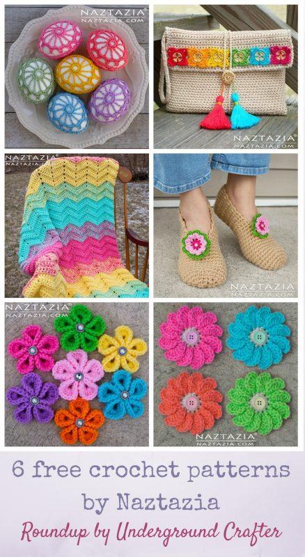 Roundup: 6 free crochet patterns (with video tutorials) by Naztazia via Underground Crafter