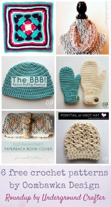 Roundup: 6 free crochet patterns by Oombawka Designs via Underground Crafter