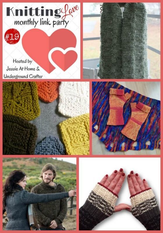 Knitting Love Link Party 19: Share your latest knitting projects, tips, WIPs, patterns, and tutorials with Underground Crafter and Jessie At Home through March 30, 2017!