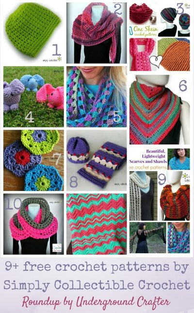 Roundup: 9+ free crochet patterns by Simply Collectible Crochet via Underground Crafter