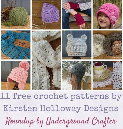 Roundup: 11 Free Crochet Patterns by Kirsten Holloway Designs via Underground Crafter