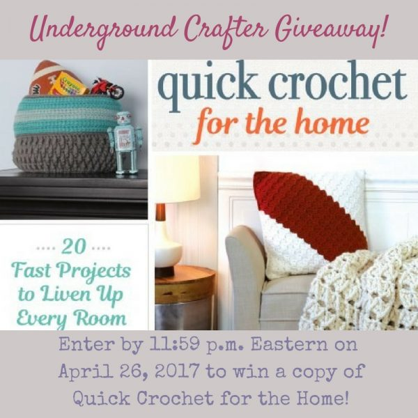 Quick Crochet for the Home by Tamara Kelly/Moogly book review and giveaway on Underground Crafter