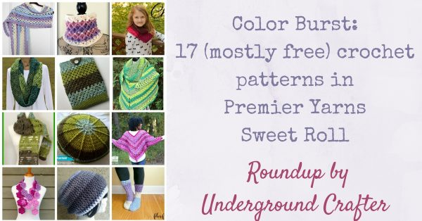 Color Burst Roundup: 17 (mostly) free crochet patterns in Premier Yarns Sweet Roll via Underground Crafter