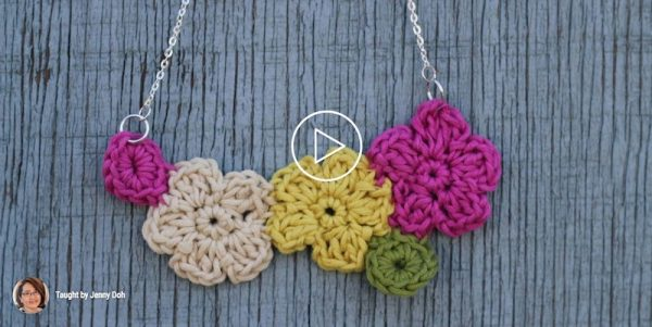 Crochet Flower Jewelry on Creativebug