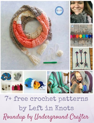 Roundup: 7+ free crochet patterns by Left in Knots via Underground Crafter