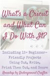 What's a Cricut and What Can I Do With It? via Underground Crafter   The Cricut Explore series machines are more than just cutting machines. They can also write, print then cut, and score. Find out more and get a roundup of over 15 beginner-friendly tutorials that you can make as soon as you get your machine out of the box!