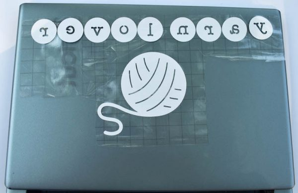 Cricut Basics: Tools and Supplies (with Yarn Lover Project Tutorial) by Underground Crafter | Have you wondered which tools and supplies you need for your Cricut Explore? In this post, I share my must-haves along with a fun project for crocheters and knitters in holographic vinyl with transfer tape.