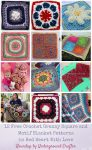 Roundup: 12 free crochet granny square and motif blanket patterns in Red Heart With Love yarn via Underground Crafter #grannysquaremonth