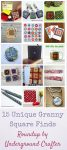 15 Unique Granny Square Finds via Underground Crafter: These granny square-themed finds include jewelry, art, craft supplies, greeting cards, accessories, and more. These would make great gifts for your favorite crocheter (which might be you!).