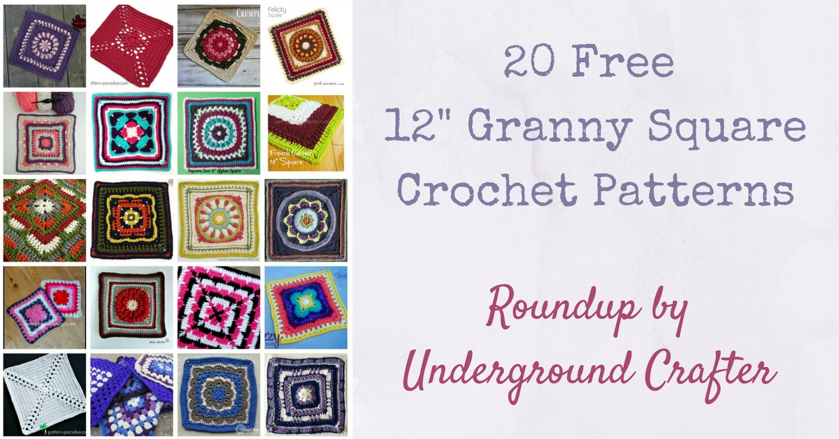 photo regarding Free Printable Crochet Granny Square Patterns named 20 No cost 12\