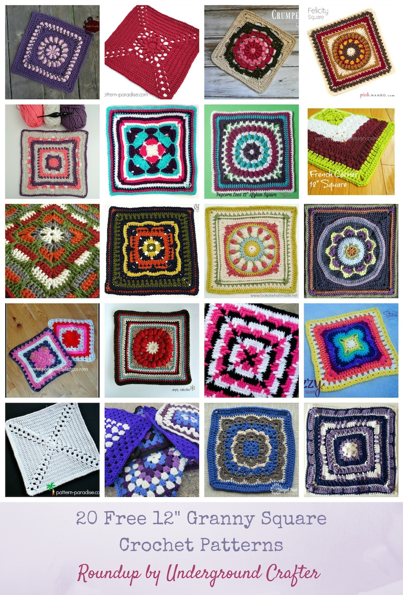 picture regarding Free Printable Crochet Granny Square Patterns named 20 Totally free 12\