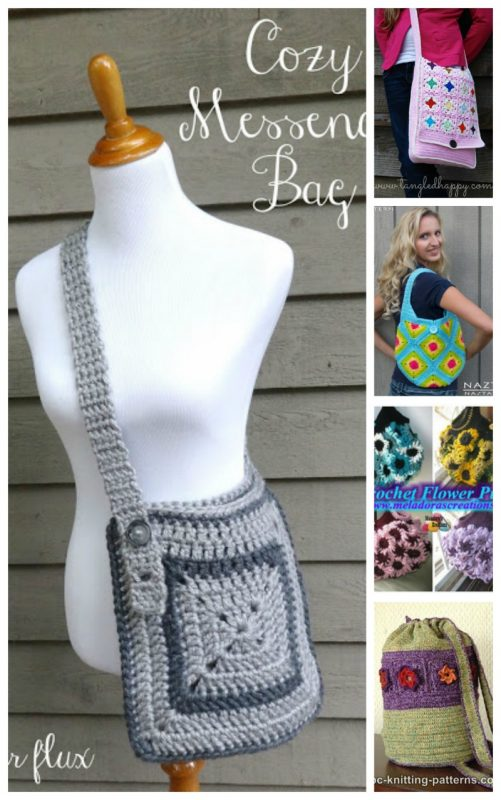 Roundup: 40 free crochet patterns for granny-inspired women's accessories and garments via Underground Crafter | Find your next project in this roundup of boho accessories and garments using the granny square, motifs, or the granny stripe.