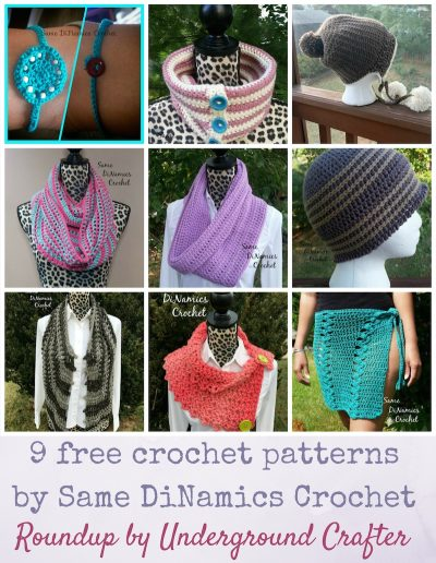 Roundup: 9 free crochet patterns by Dianne Hunt from Same DiNamics Crochet via Underground Crafter