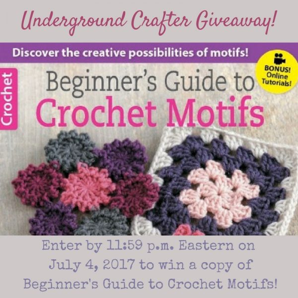 Beginner's Guide to Crochet Motifs by Melissa Leapman book review by Underground Crafter. Enter through July 4, 2017 for your chance to win this book!