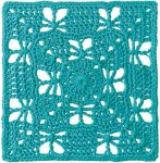 Crochet pattern: Butterfly Garden Square by Chris Simon from Margaret Hubert's Granny Square Book (2nd edition) with book review via Underground Crafter