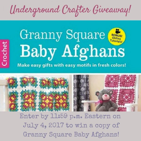 Granny Square Baby Afghans by Carol Holding book review by Underground Crafter. Enter through July 4, 2017 for your chance to win this book!