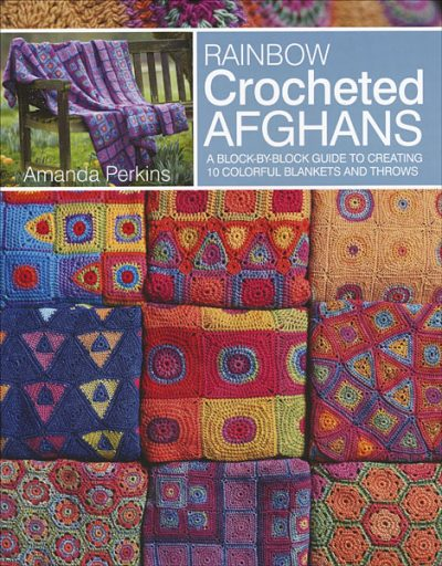Book review: Rainbow Crocheted Afghans by Amanda Perkins via Underground Crafter #grannysquaremonth