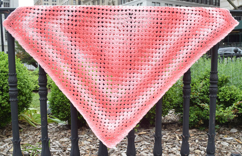 Crochet Pattern: Simple Rectangular Granny Blanket