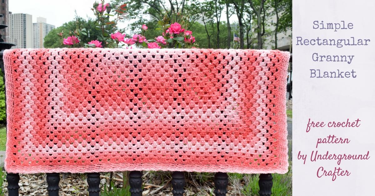 Crochet Pattern: Simple Rectangular Granny Blanket
