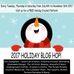 2017 Holiday Blog Hop with Underground Crafter, American Crochet, Creative Crochet Workshop, Oombawka Design, The Stitchin' Mommy, Graceful Fibers, CrochetN'Crafts, The Purple Poncho, Crochet Memories, The Lavender Chair, The Country Willow, Pattern Paradise, and more! Get over 50 free crochet patterns perfect for winter holiday gifts and decorations.